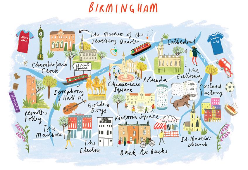 Birmingham pub crawl map inspired by London Underground Birmingham