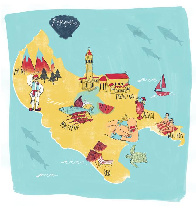 Zante sia tzavalas illustration may 2014 filed under zante zakynthos map holiday greece island gumiabroncs Choice Image
